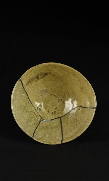 SILVER REPAIRED LACQUER BOWL